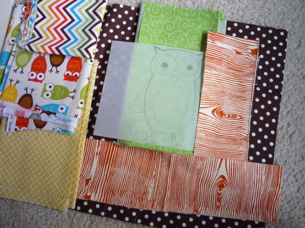 fabrics for owl pillow